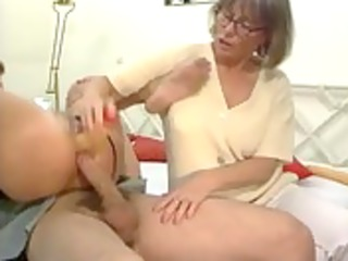 german mamma and daughter in trio groupsex action