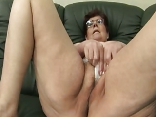 granny panty stuffing and vibrator play