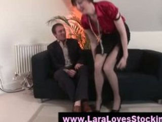 nylons mature lady in high heels