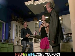 old hubby needs assist to gangbang his youthful