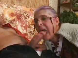 granny becomes eager when guy drills her fleshy