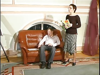 russian mama 2 aged with a young man