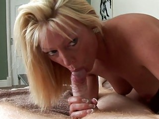 blond milf is a real snake charmer