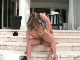 bitchy nympho in huge ass riding cock on the