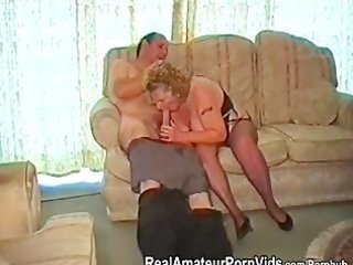 a obese granny has sex with her husband