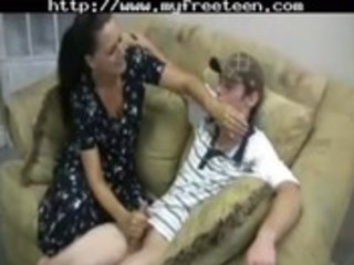 sexually excited mother gives handjob legal age